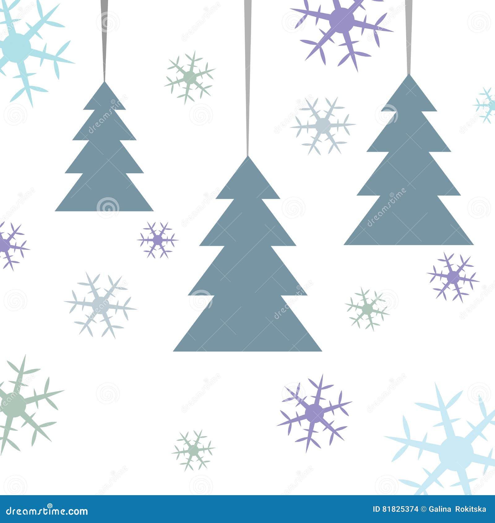 Postkarte Für Heiraten Weihnachten Schwarzer Abstrakter Tannenbaum ...