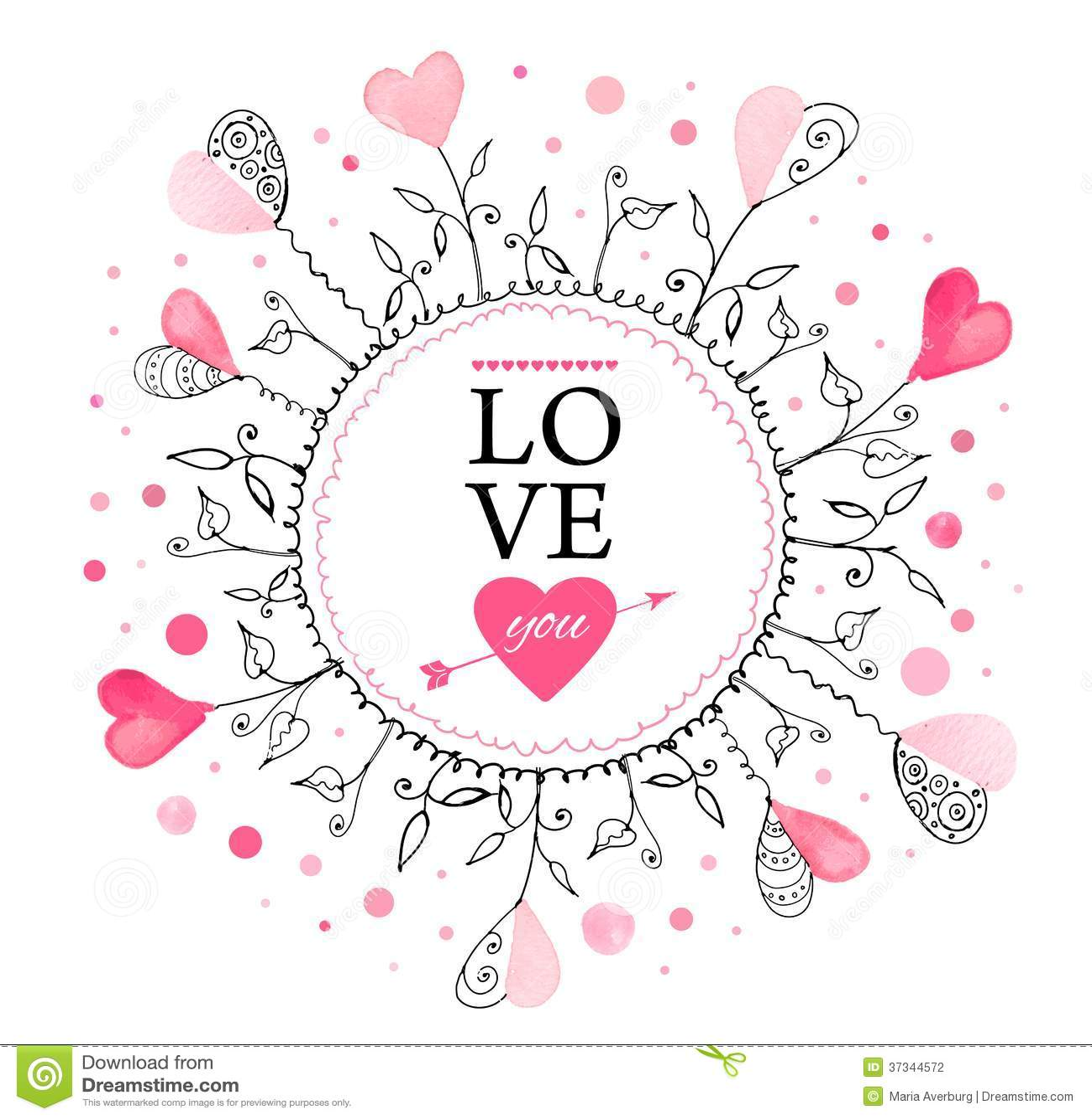 Postkarte für Valentinstag