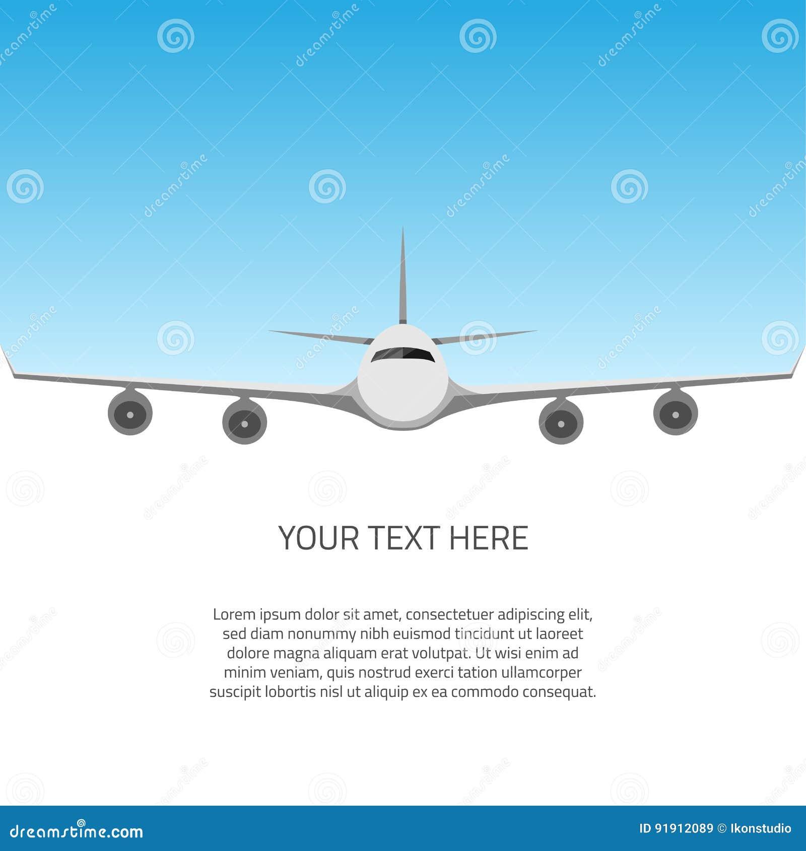 Postkarte mit Flugzeug