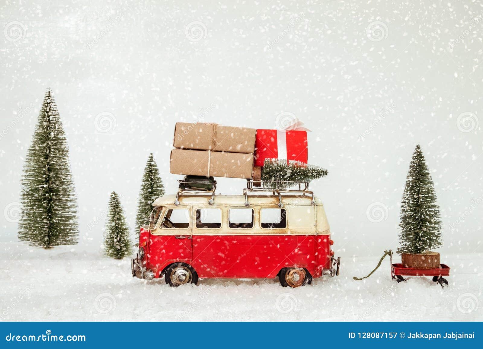 Postkartenhintergrund der Weinlese-frohen Weihnachten