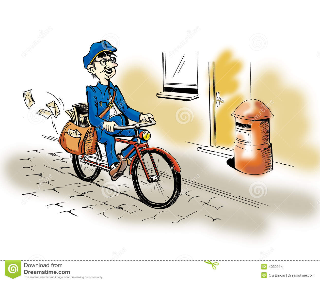 Postman Stock Images - Image: 4030914