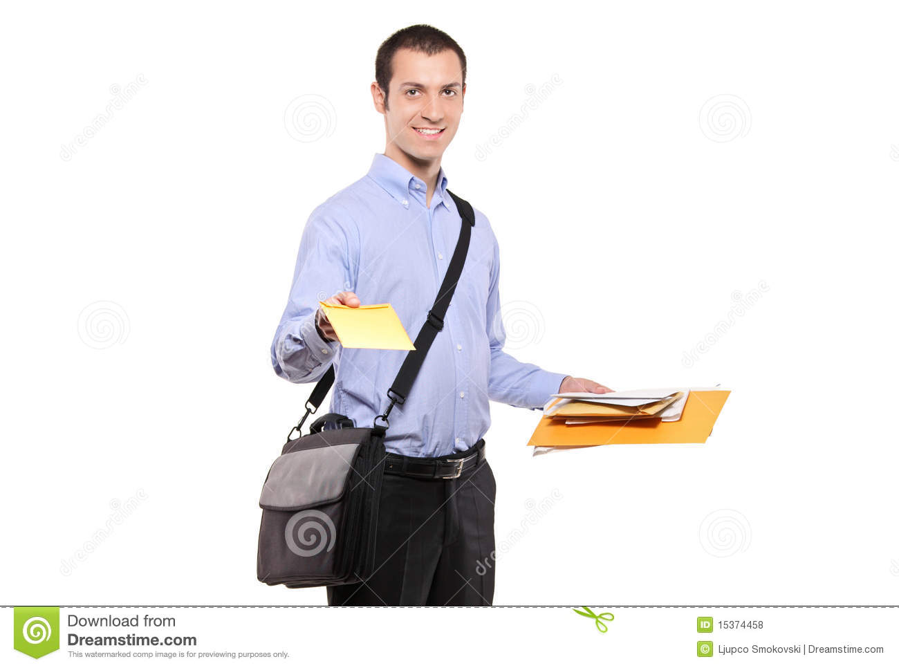 Postman Delivering Mail Royalty Free Stock Photos - Image: 15374458