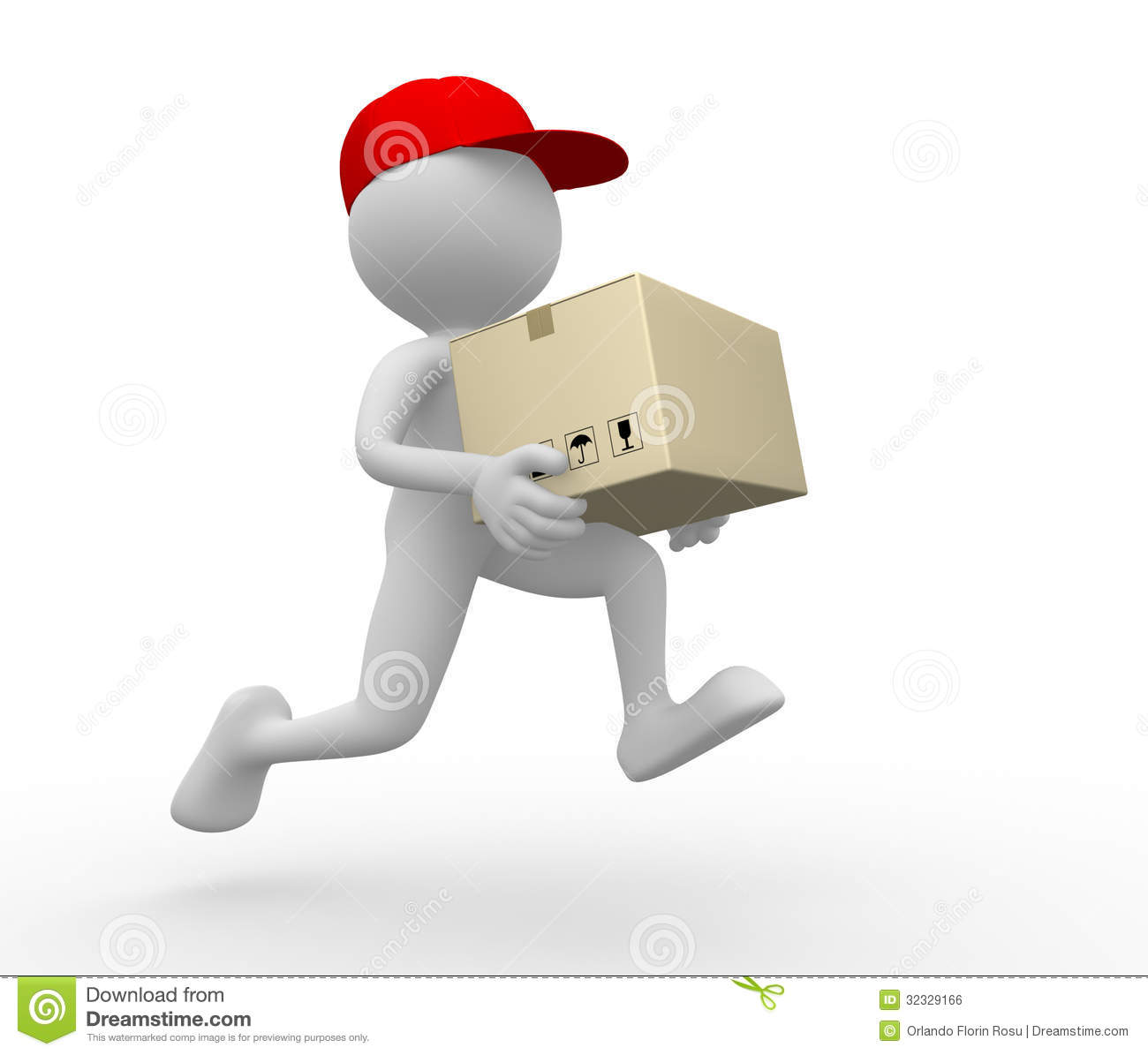 Postman Delivery Royalty Free Stock Image Image 32329166