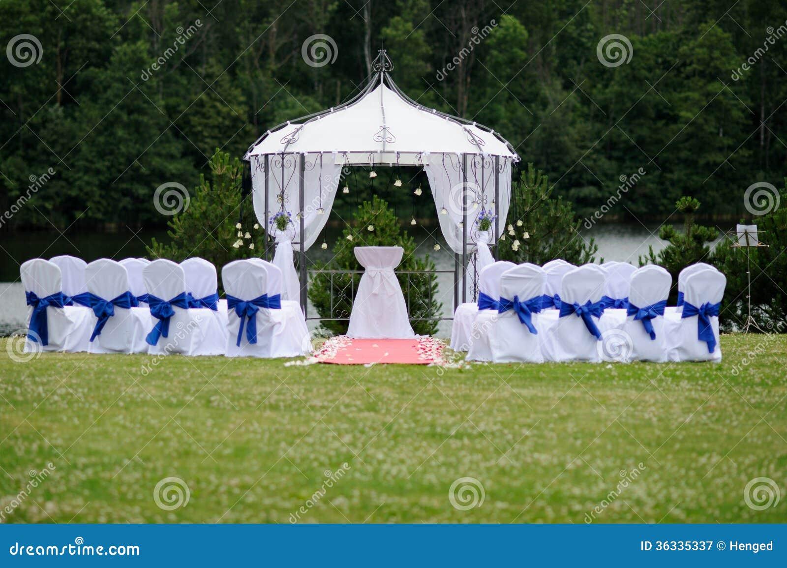 Posto all aperto di nozze