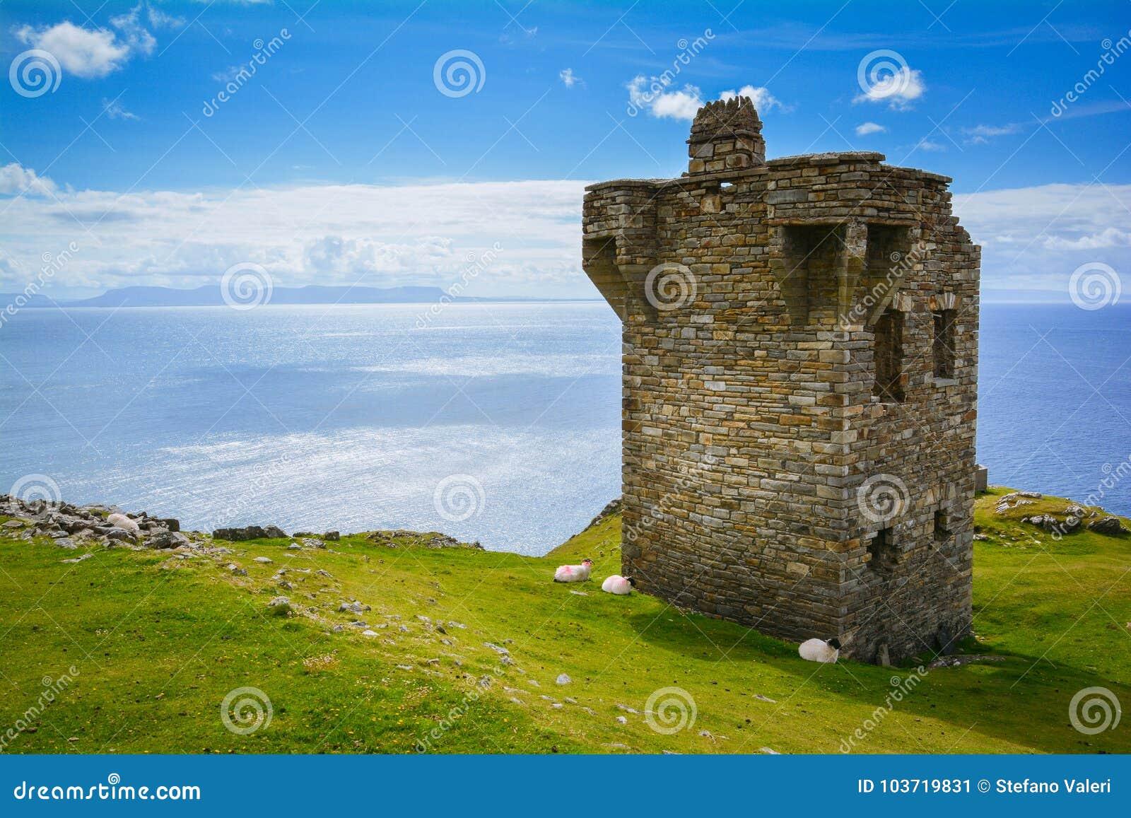 Posto di guardia vicino alla lega di Slieve, contea il Donegal, Irlanda