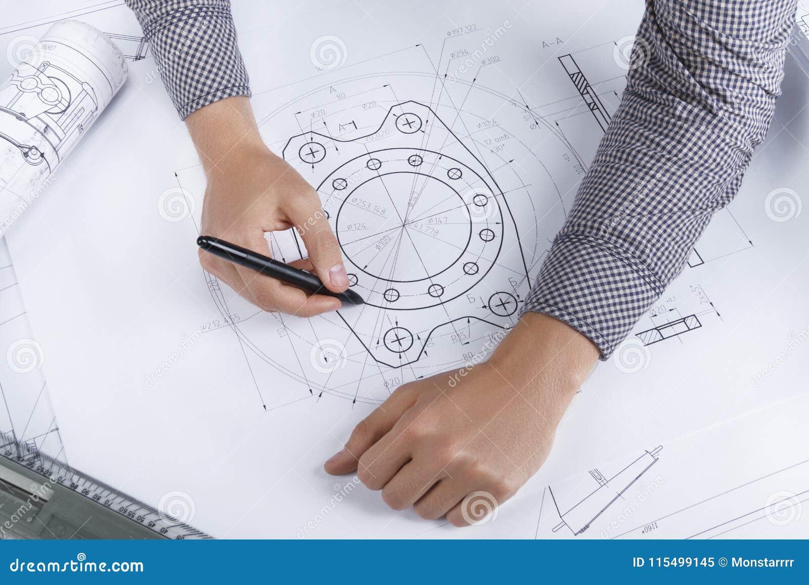Posto di lavoro architetto/dell ingegnere