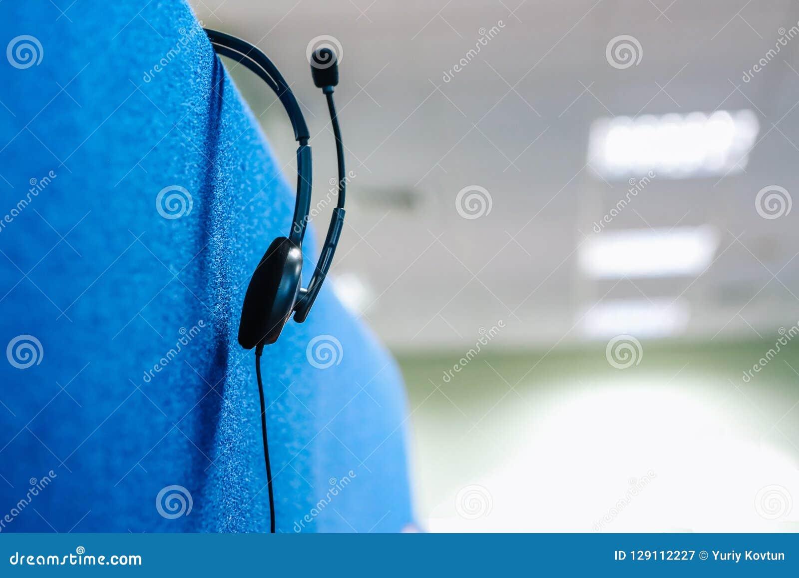Posto di lavoro di conversazione del microfono delle cuffie della cuffia avricolare della call center