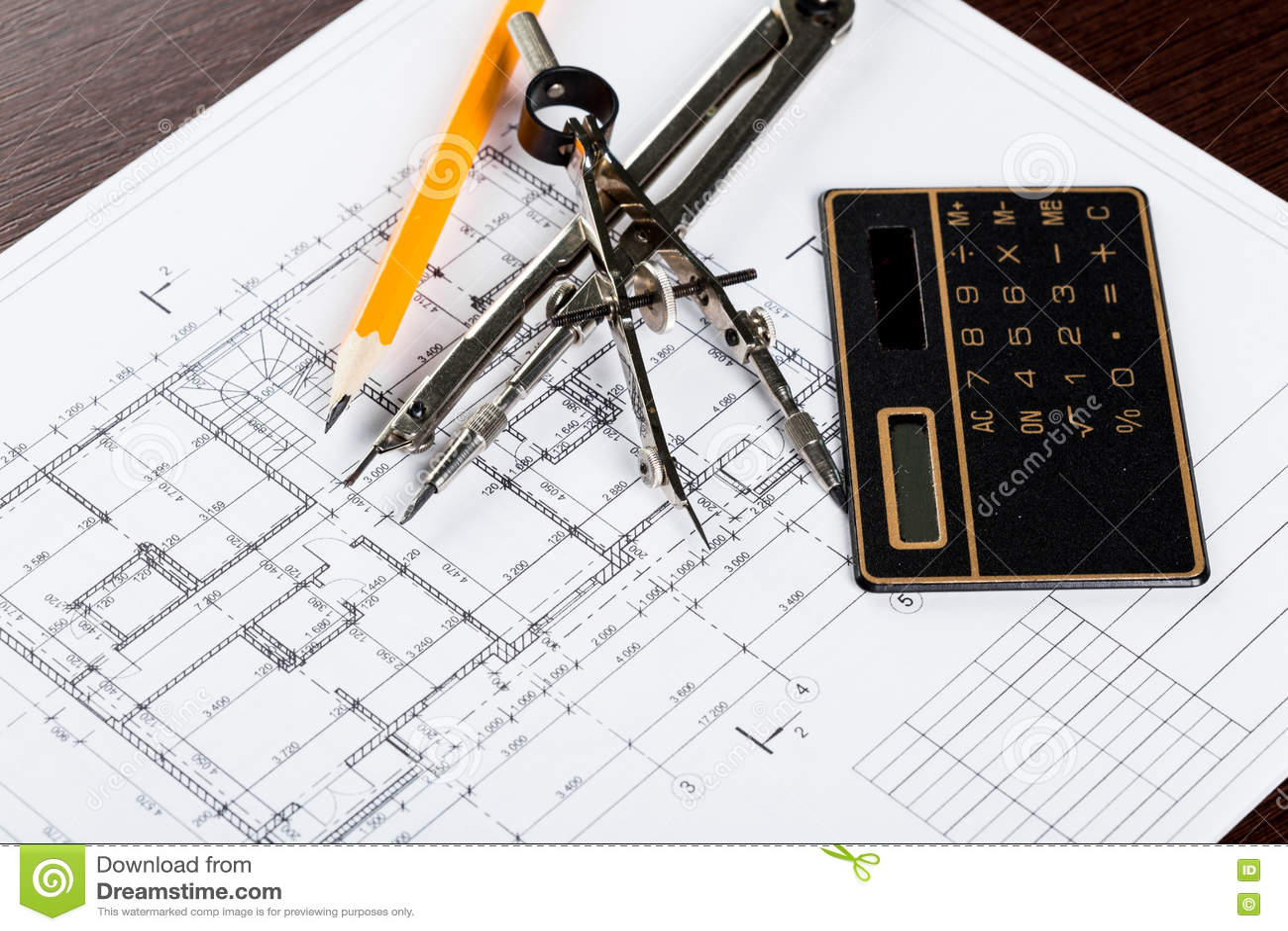 Posto di lavoro dell 39 architetto fotografia stock immagine 71378232 - Lavoro architetto berlino ...