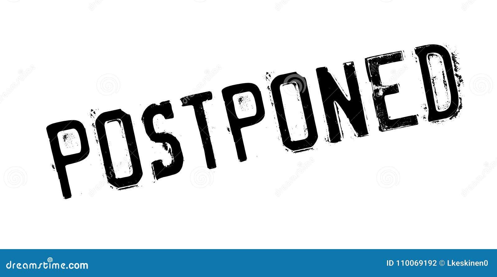 Postponed rubber stamp stock vector  Illustration of cancelled
