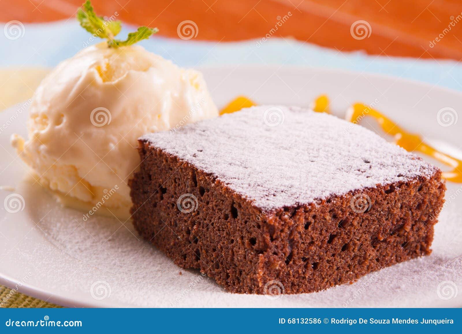 Postre de la torta de chocolate