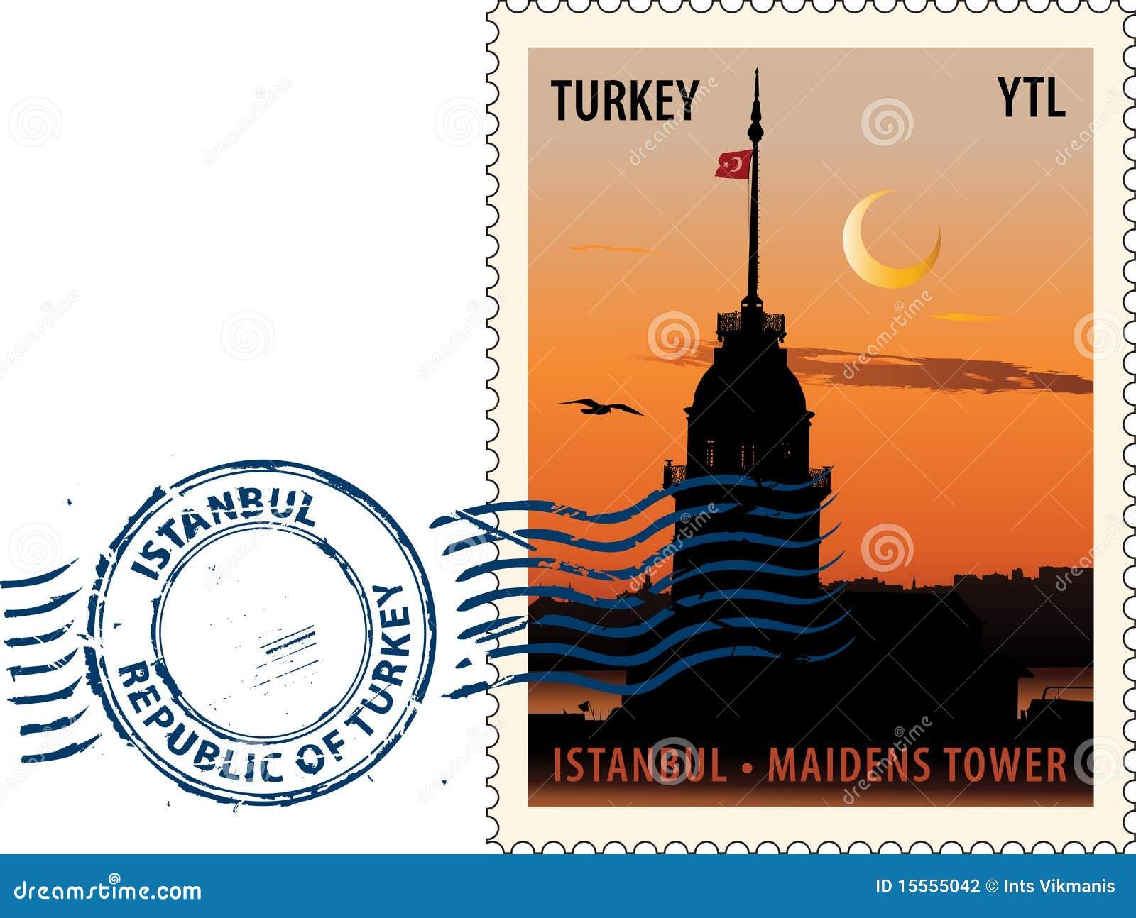 Poststempel von Istanbul