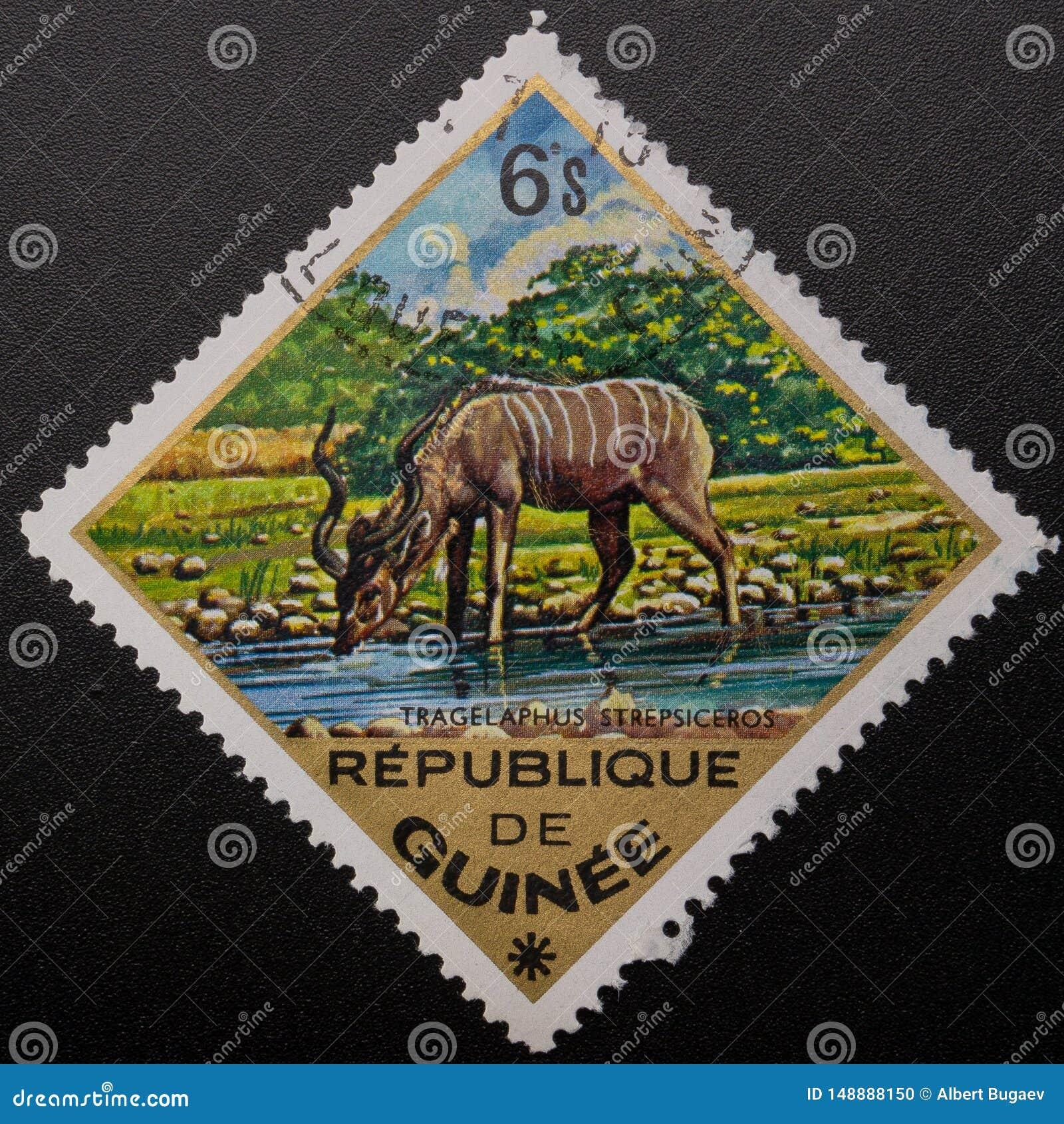 Postzegel 1975 Republiek Guinea Wilde dieren