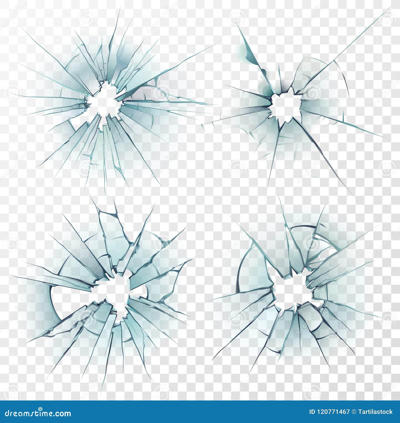 Potłuczone szkło Krakingowa tekstura na lustrze, roztrzaskujących okno lub uszkadzającej samochodowej przedniej szybie, Realistyc