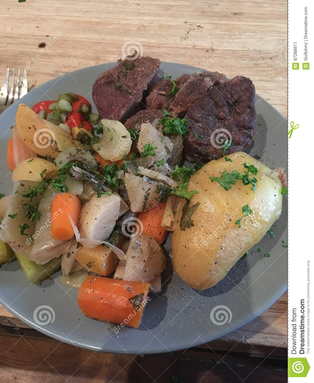 Pot Au Feu French Speciality Stock Image Image Of Wood Speciallty