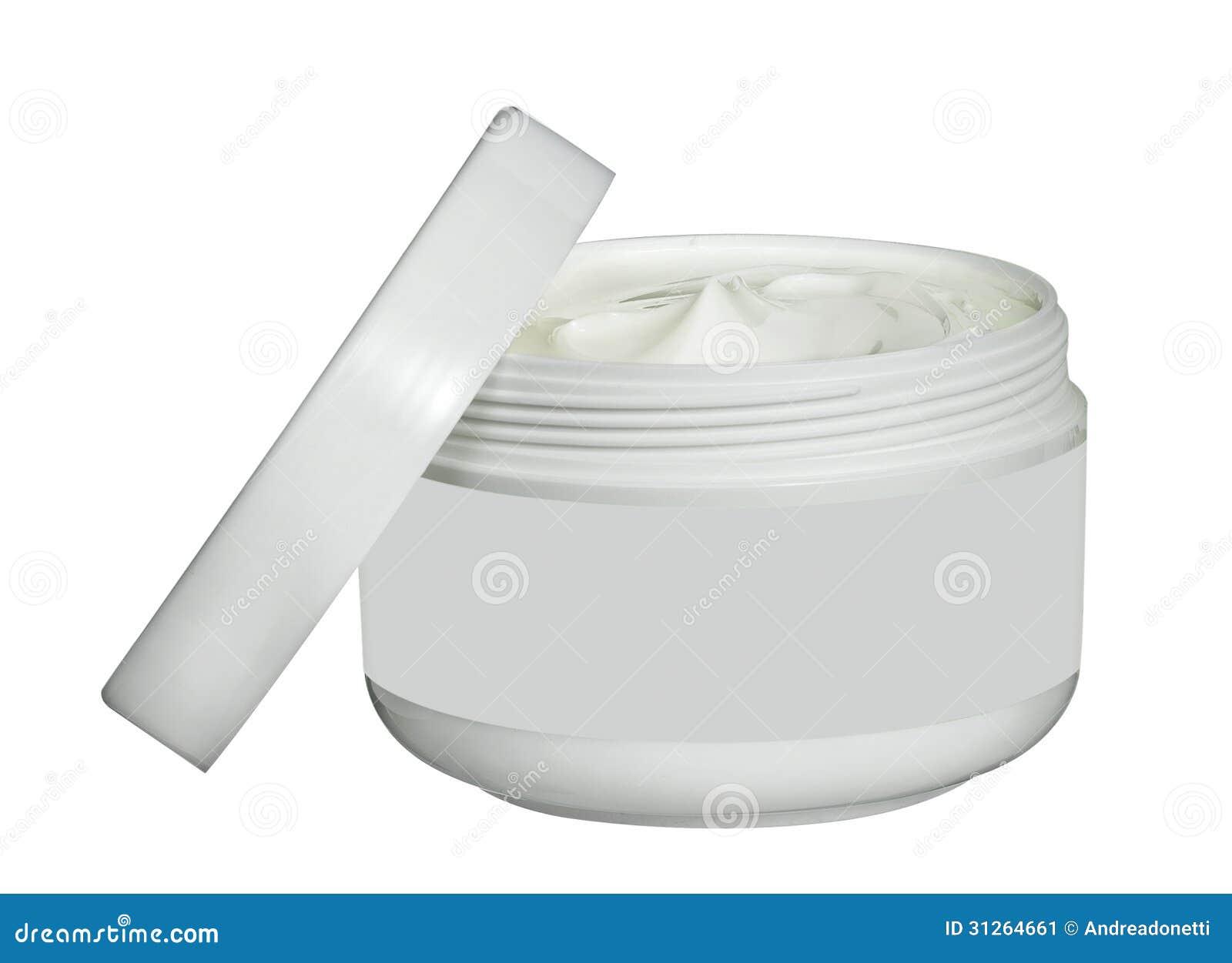 Pot Blanc De Crème De Beauté D'isolement Sur Le Blanc Image stock ...