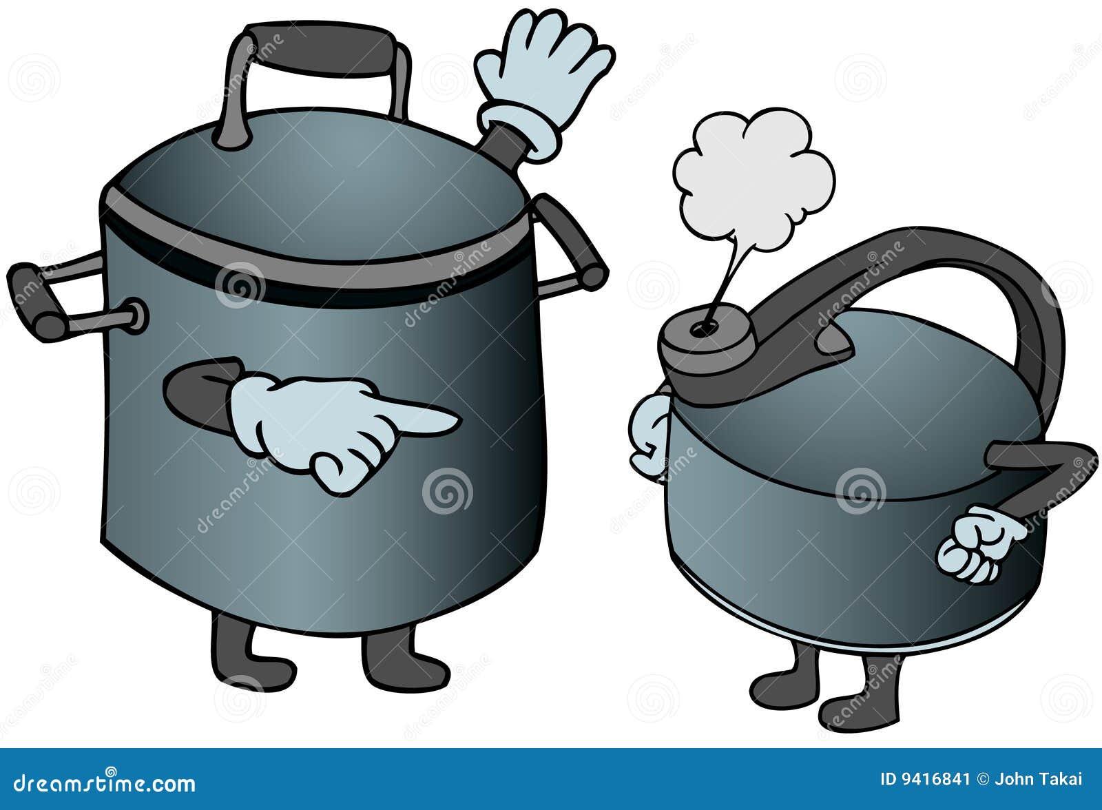 Pot Calling The Kettle Black Stock Image