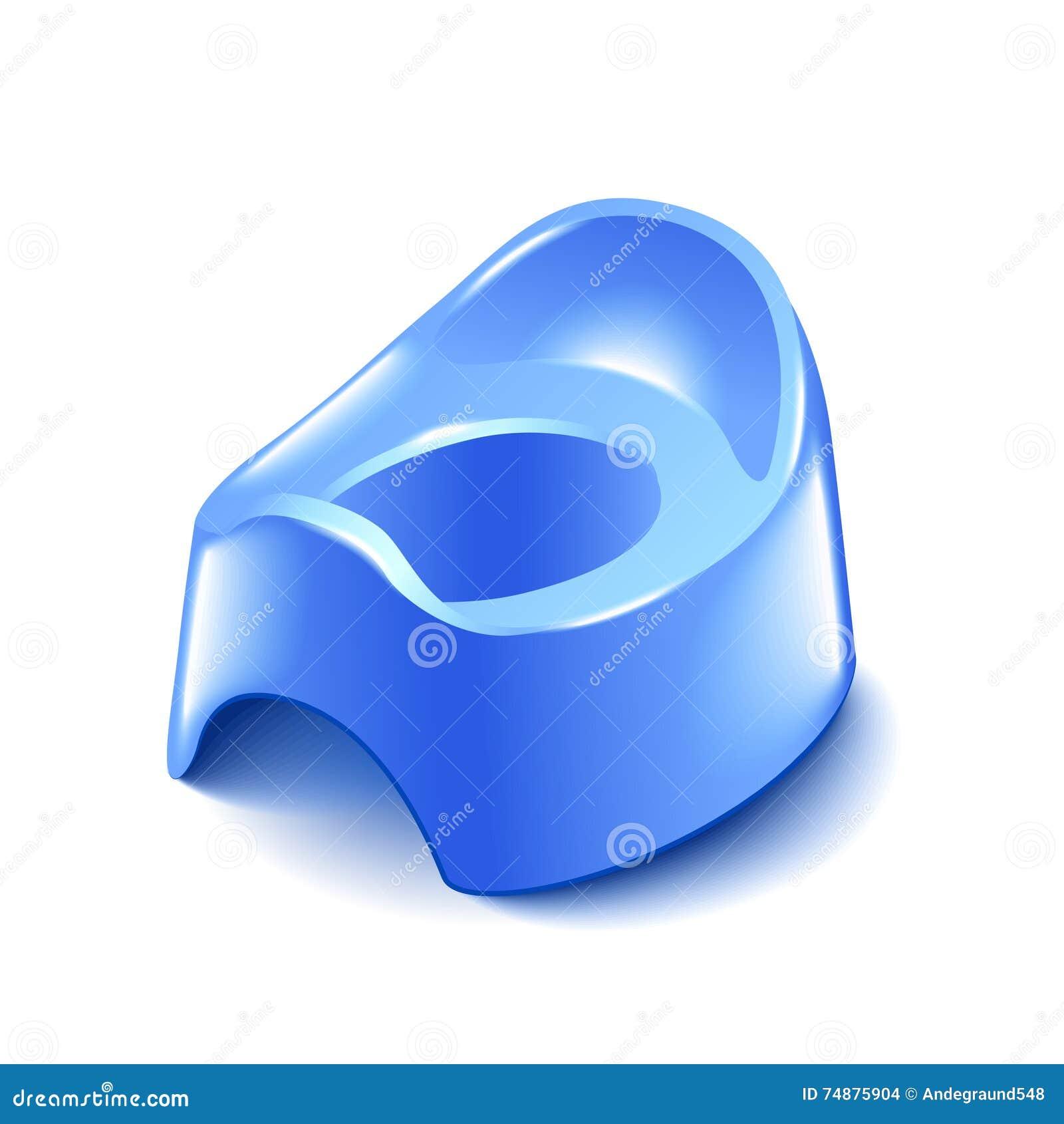 Pot de bébé bleu d isolement sur le vecteur blanc