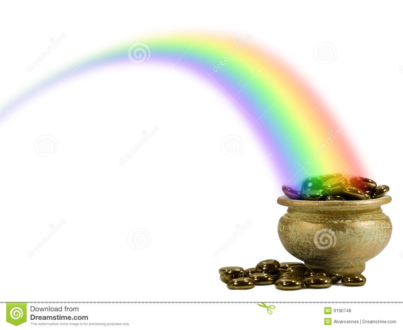 Pot of Gold in a rainbow stock photo. Image of resources ...