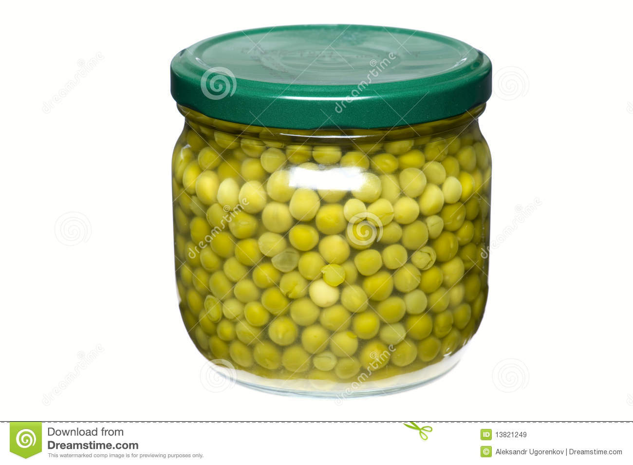 Pot with green pea