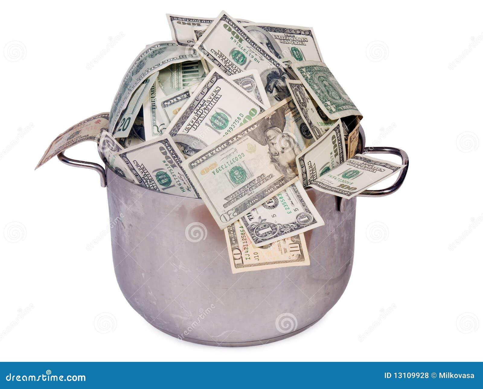 Pot Of Money Royalty Free Stock Photos Image 13109928
