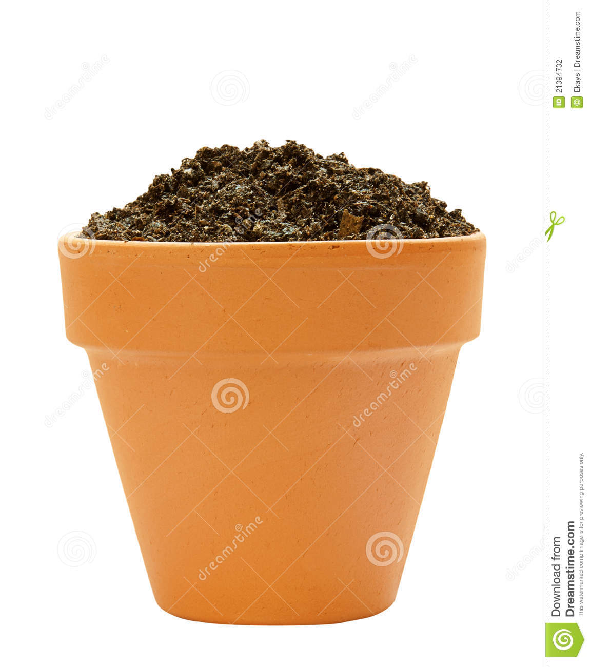 Pot with soil stock photo image of gardening isolated for Clay potting soil
