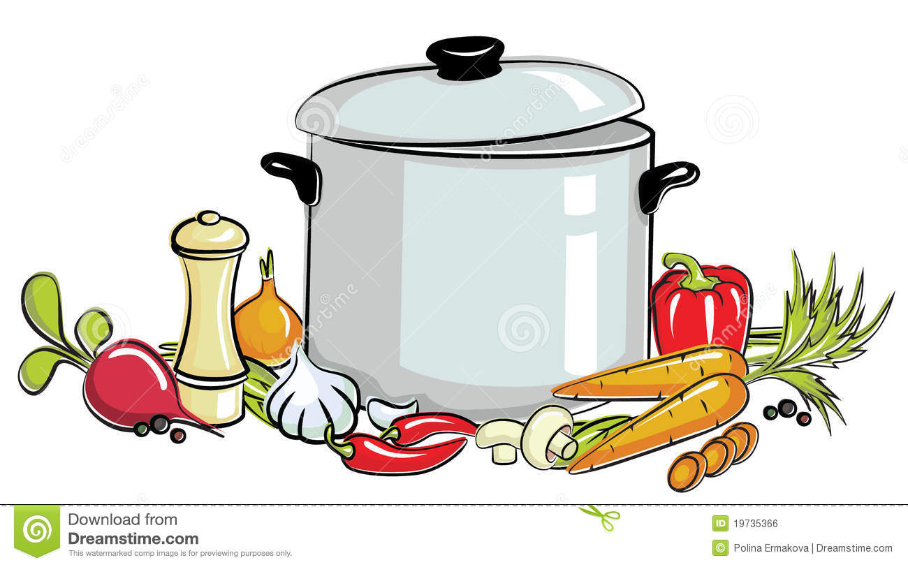 Pot Of Soup Royalty Free Stock Image - Image: 19735366