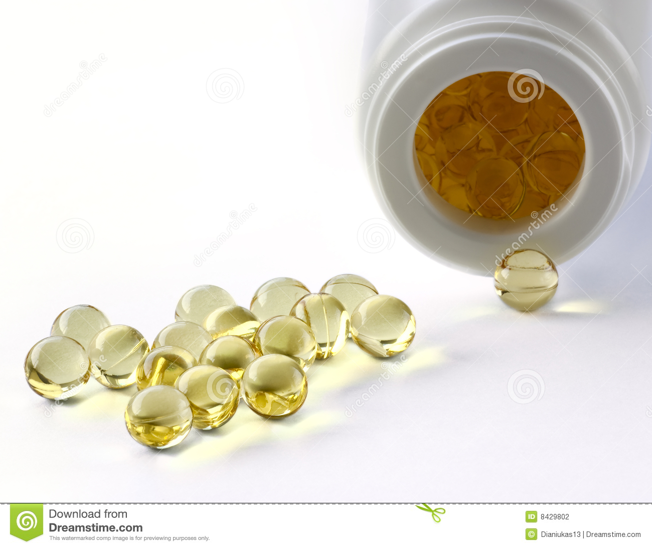 Pot of yellow pills