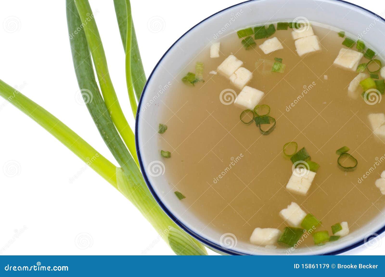 Potage de miso frais