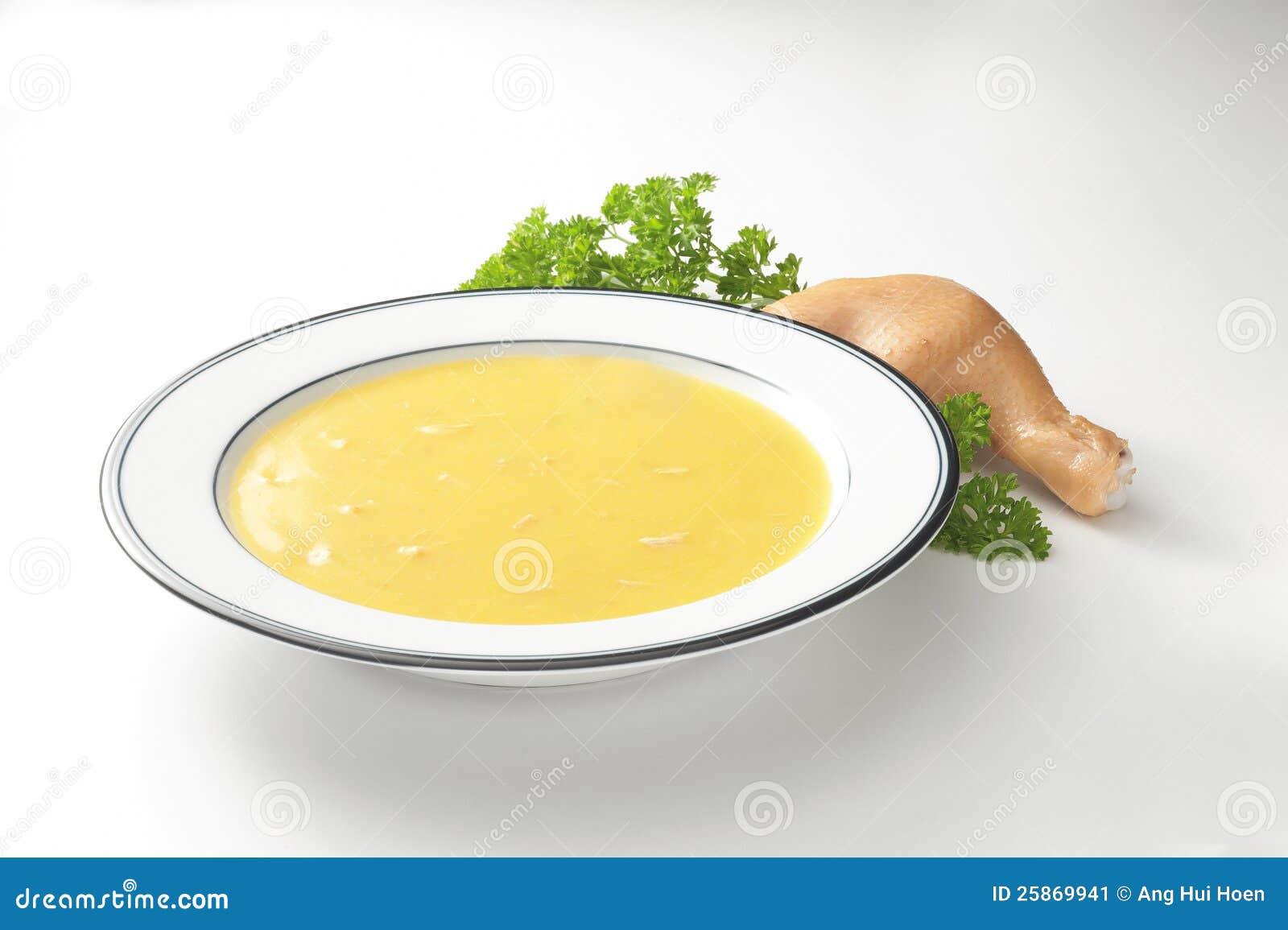 Potage de poulet crémeux