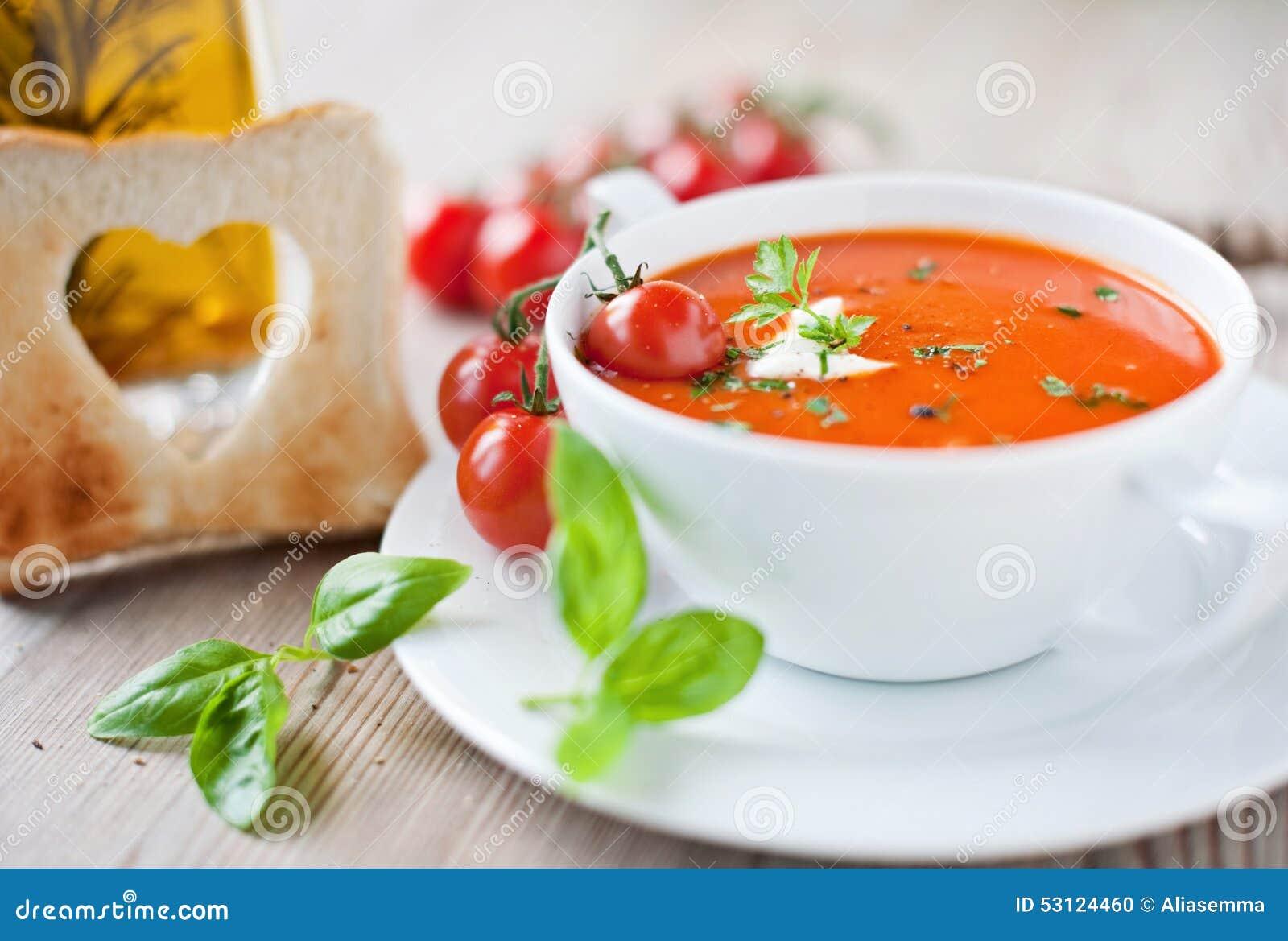 potage de tomate photo stock image 53124460. Black Bedroom Furniture Sets. Home Design Ideas