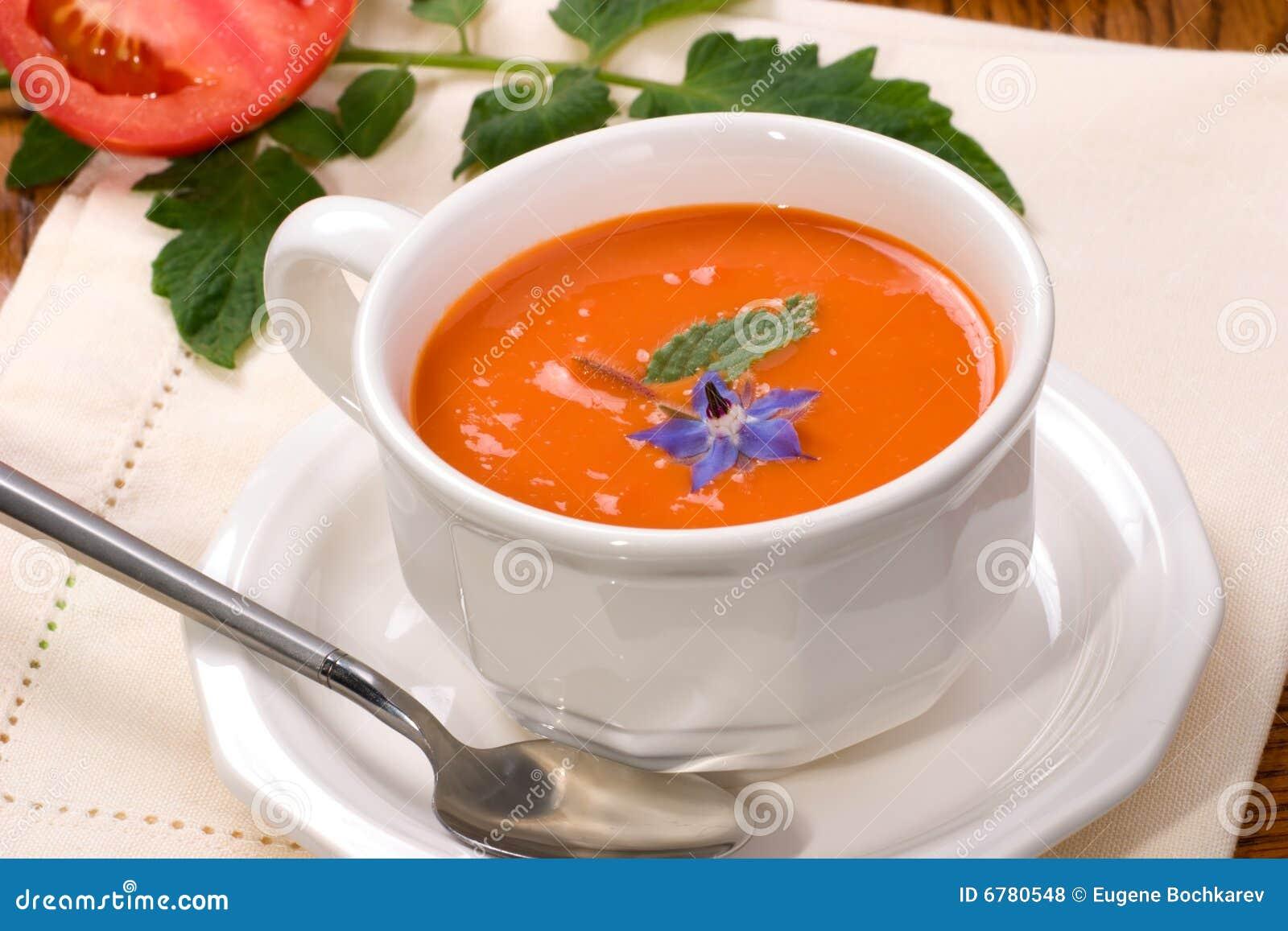 potage de tomate photo stock image du tomate v g tarien 6780548. Black Bedroom Furniture Sets. Home Design Ideas