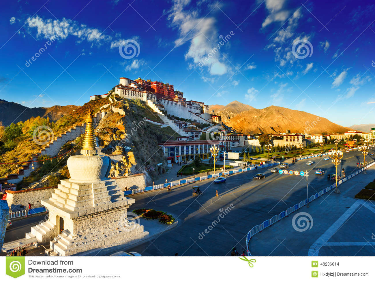 Potala palace,in Tibet of China