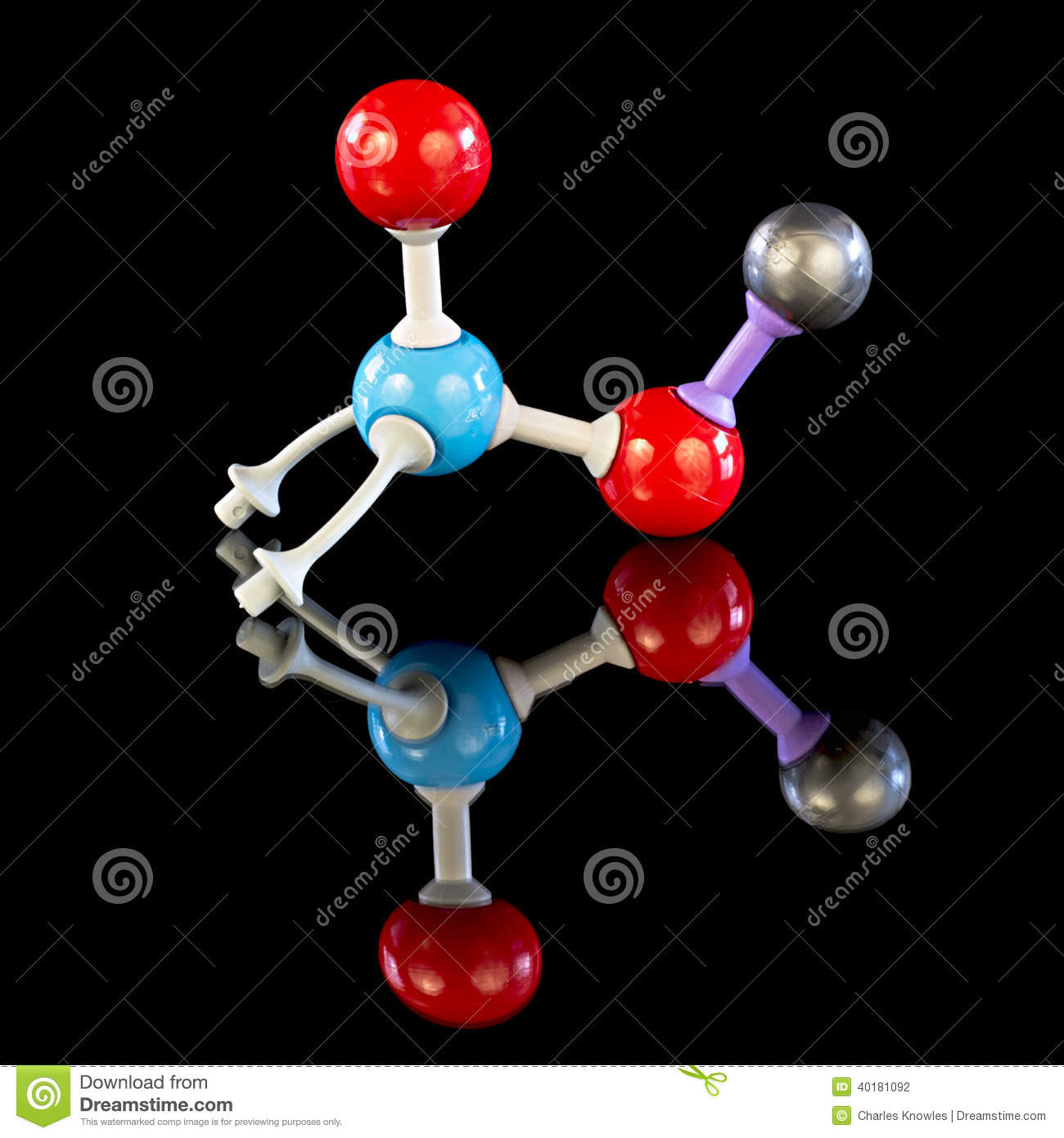 Potassium Nitrate Molecule Model Stock Photo - Image: 40181092