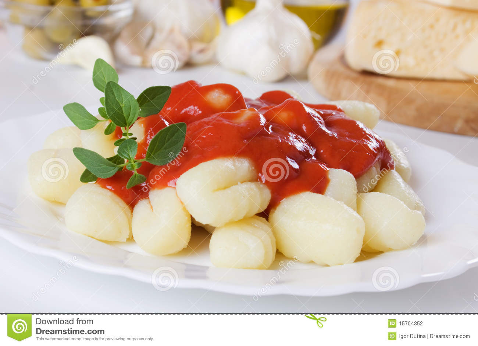 Potatis för di gnocchi italiensk nudelpatata