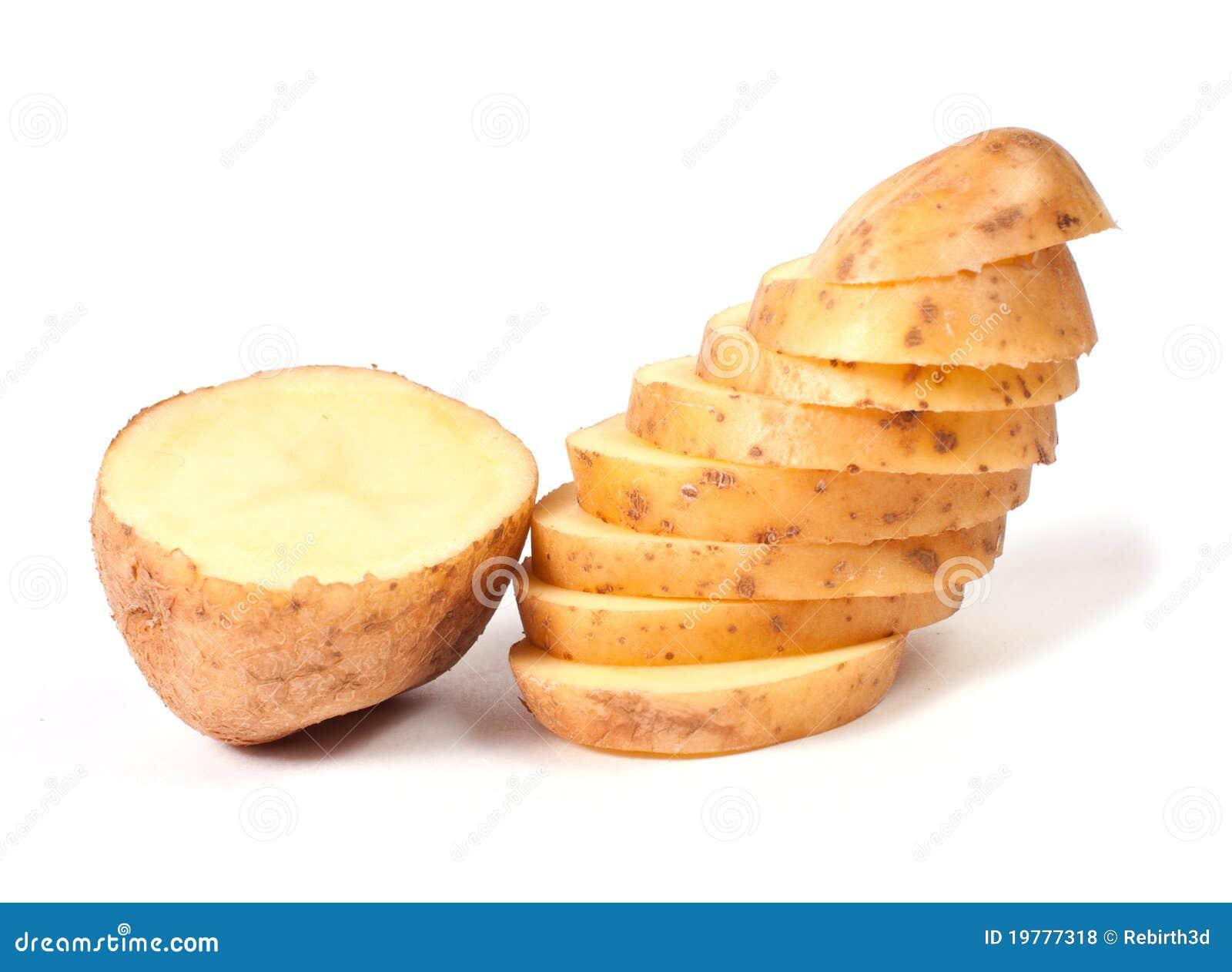 Potatisar skivade yellow