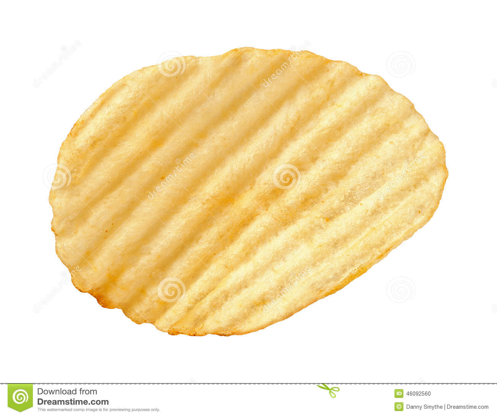 potato chip with ridges isolated stock photo image 46092560