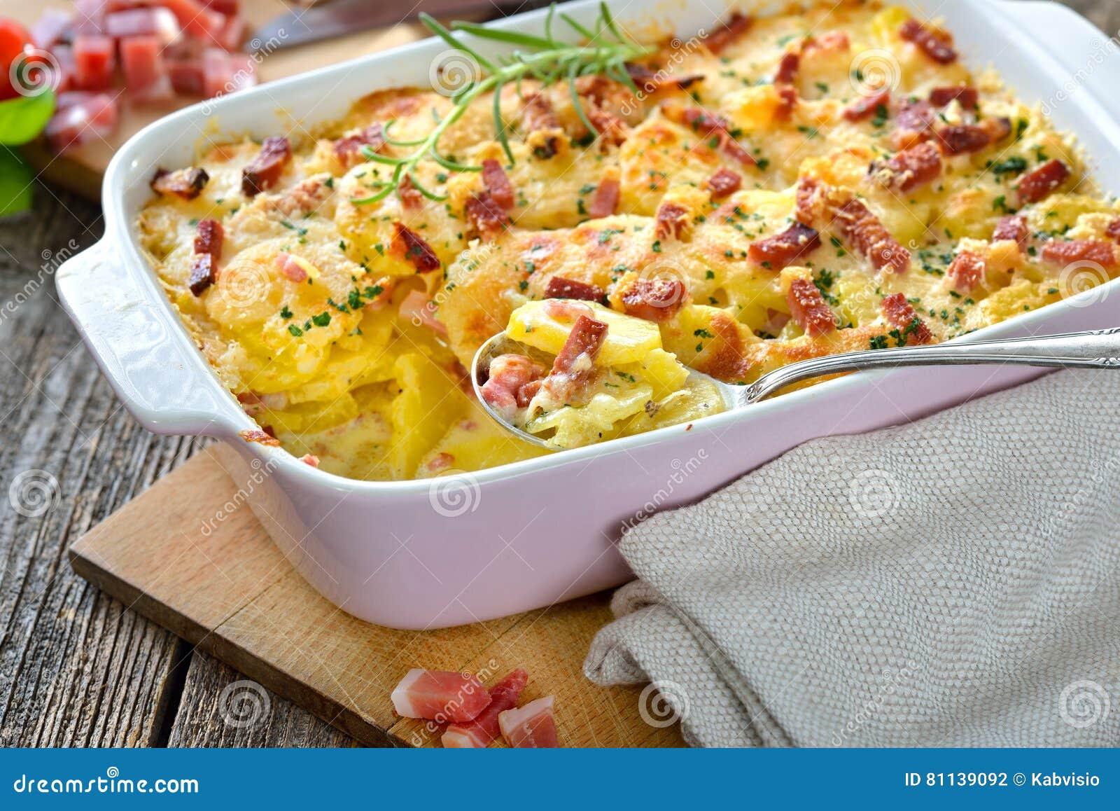 potatisgratäng med bacon