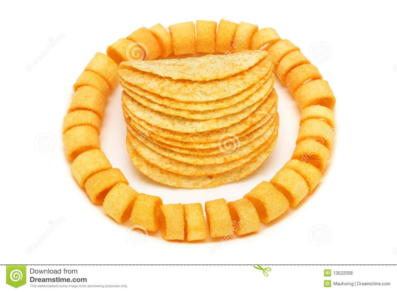 Potato Rings And Chips Royalty Free Stock Photos - Image: 13522008