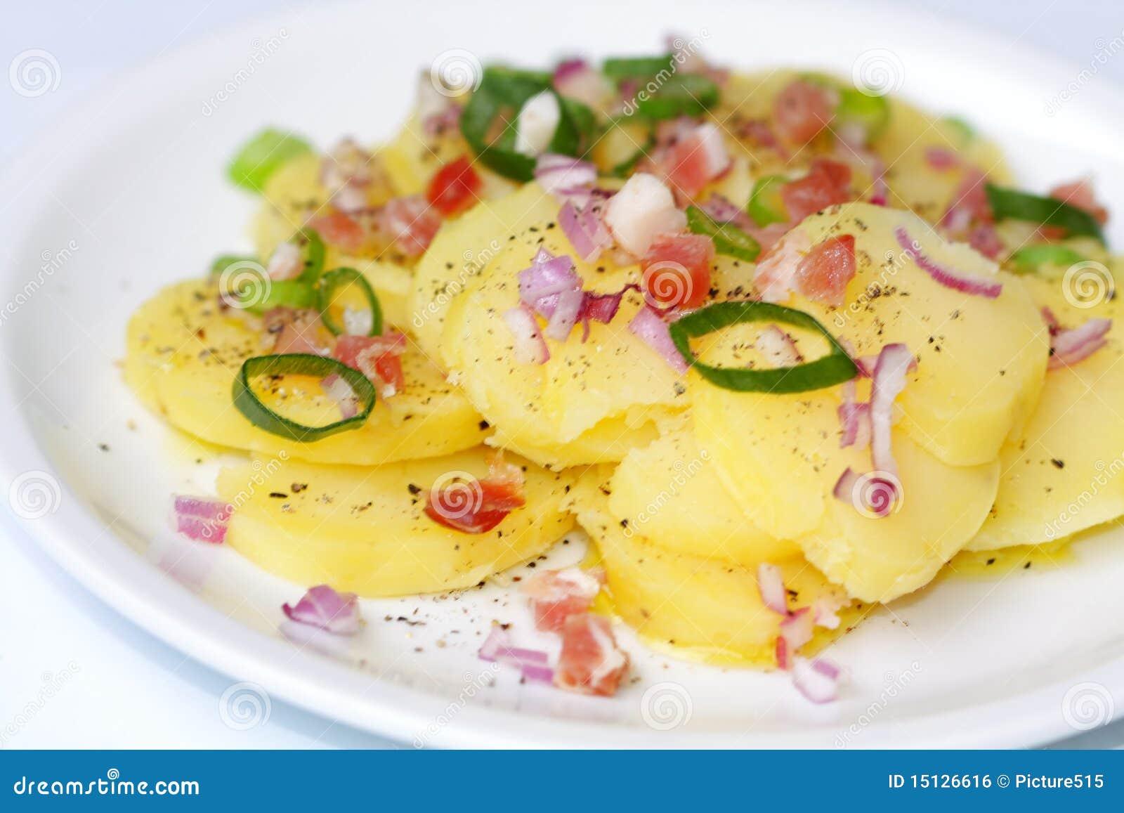 Potato salad from jacket potatoes