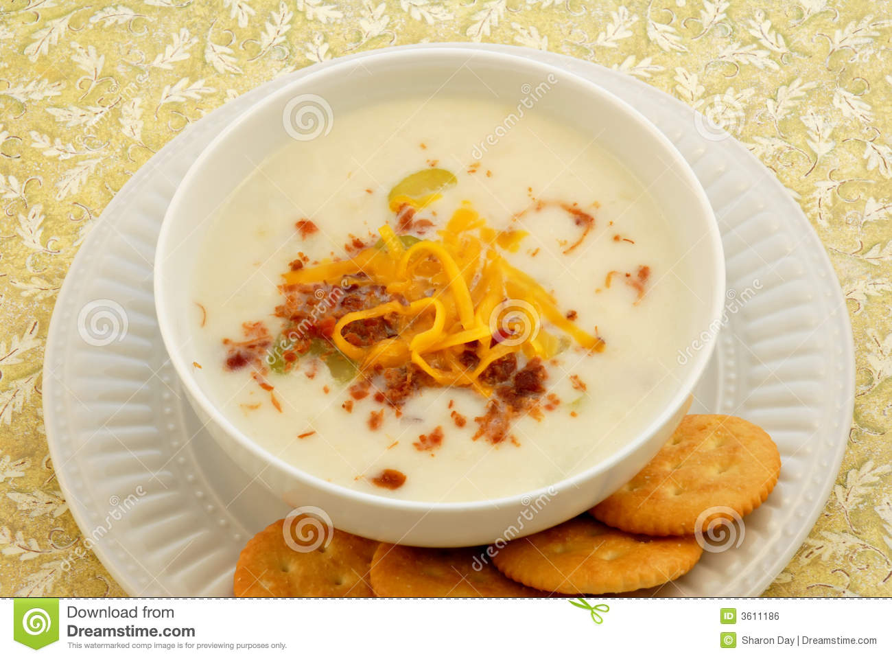 Potato Soup & Crackers