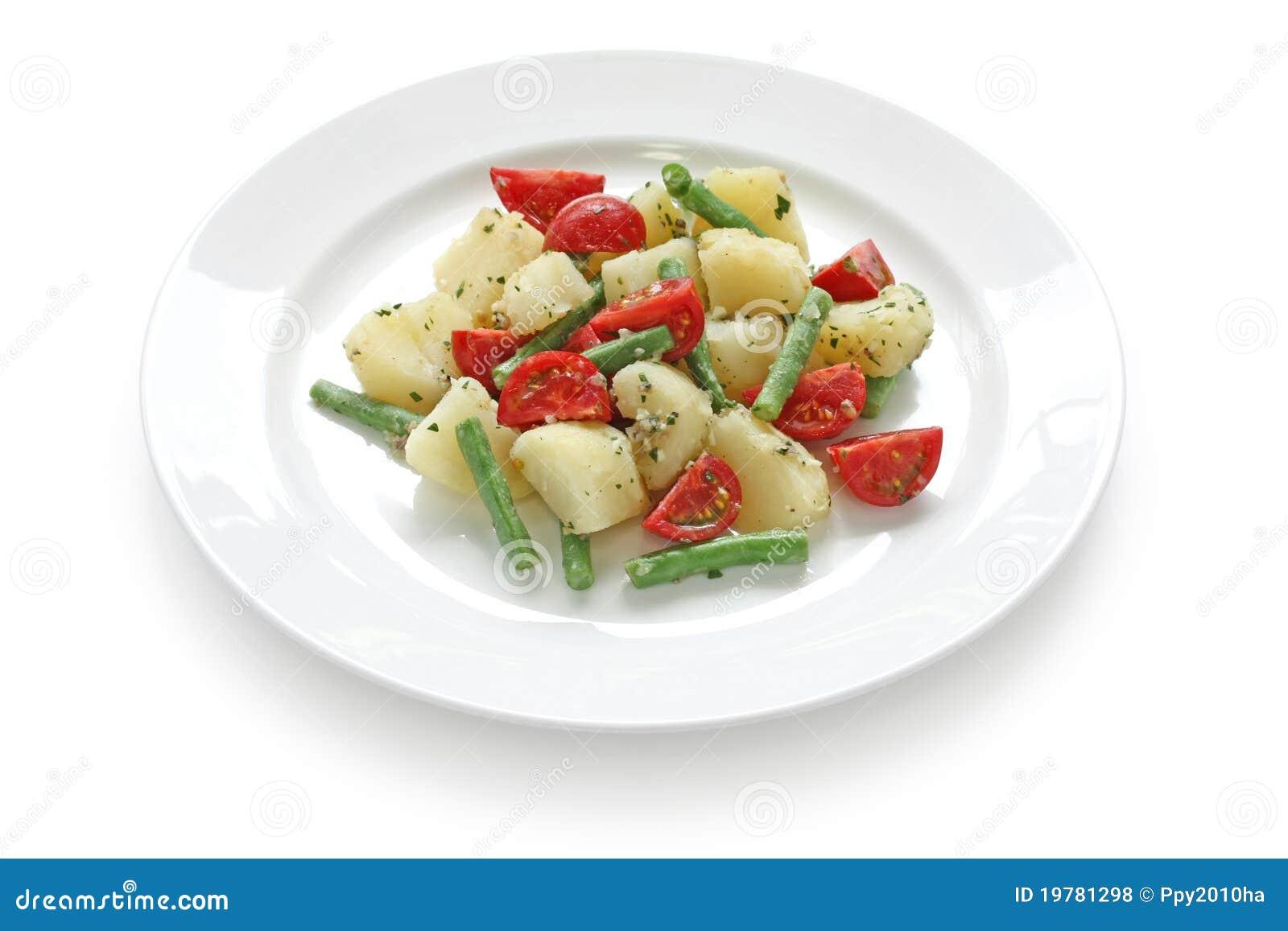 Tomato And Green Bean Salad Royalty-Free Stock Photo ...