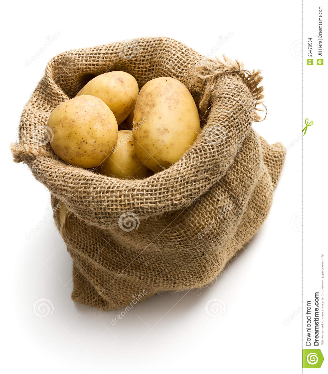 potatoes in burlap sack stock images image 26478554. Black Bedroom Furniture Sets. Home Design Ideas