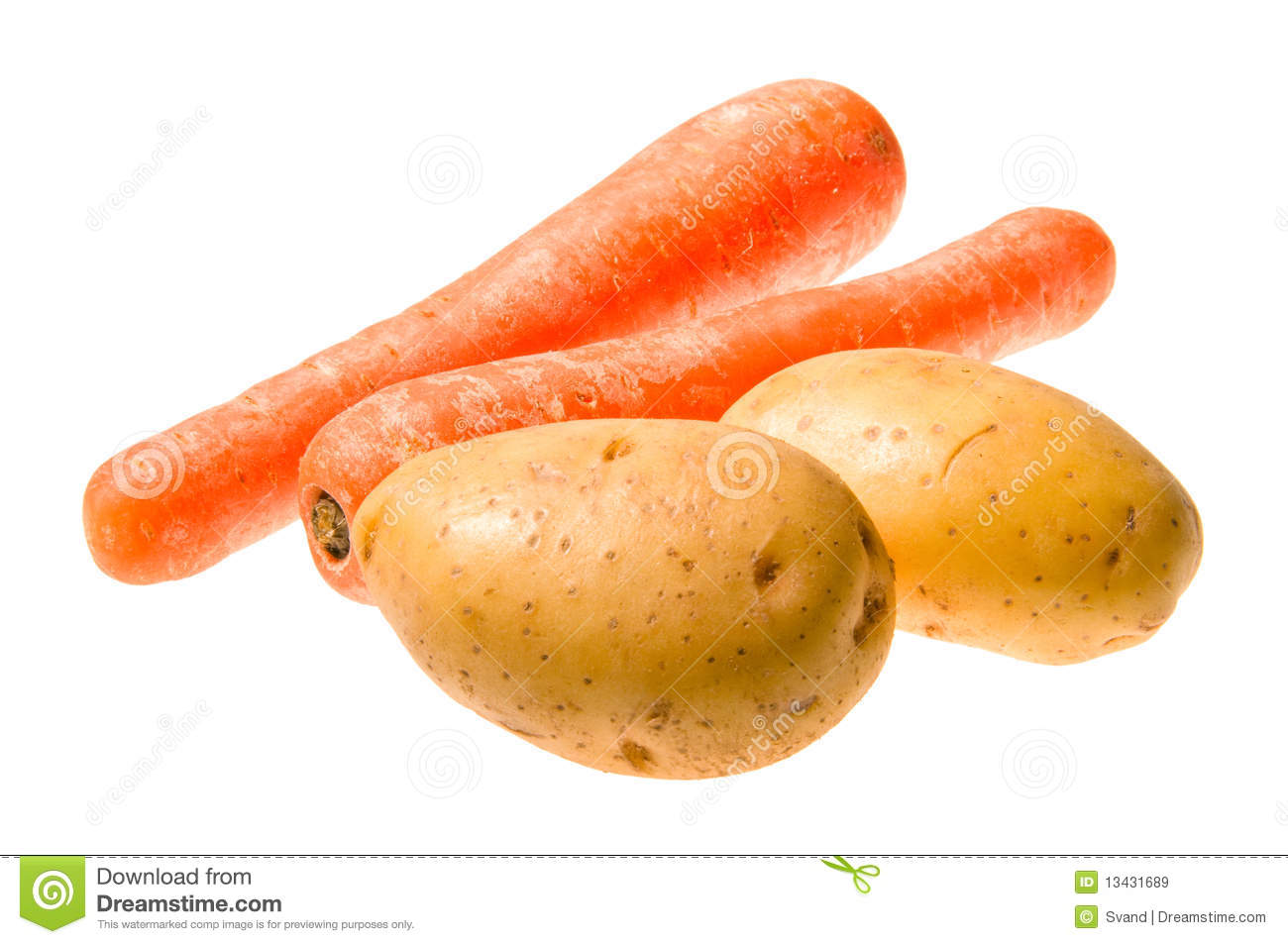Potatoes And Carrots Royalty Free Stock Images - Image ...