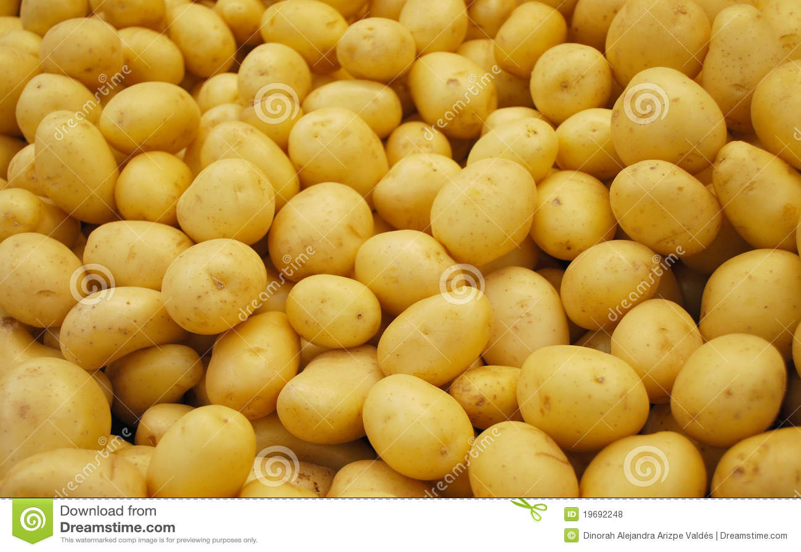 Potatoes stand