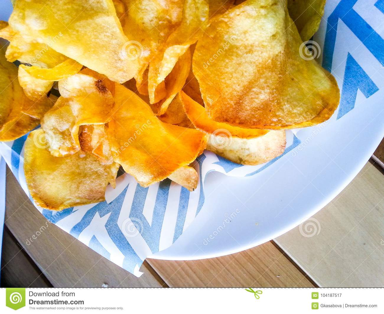 Potatoes home made chips