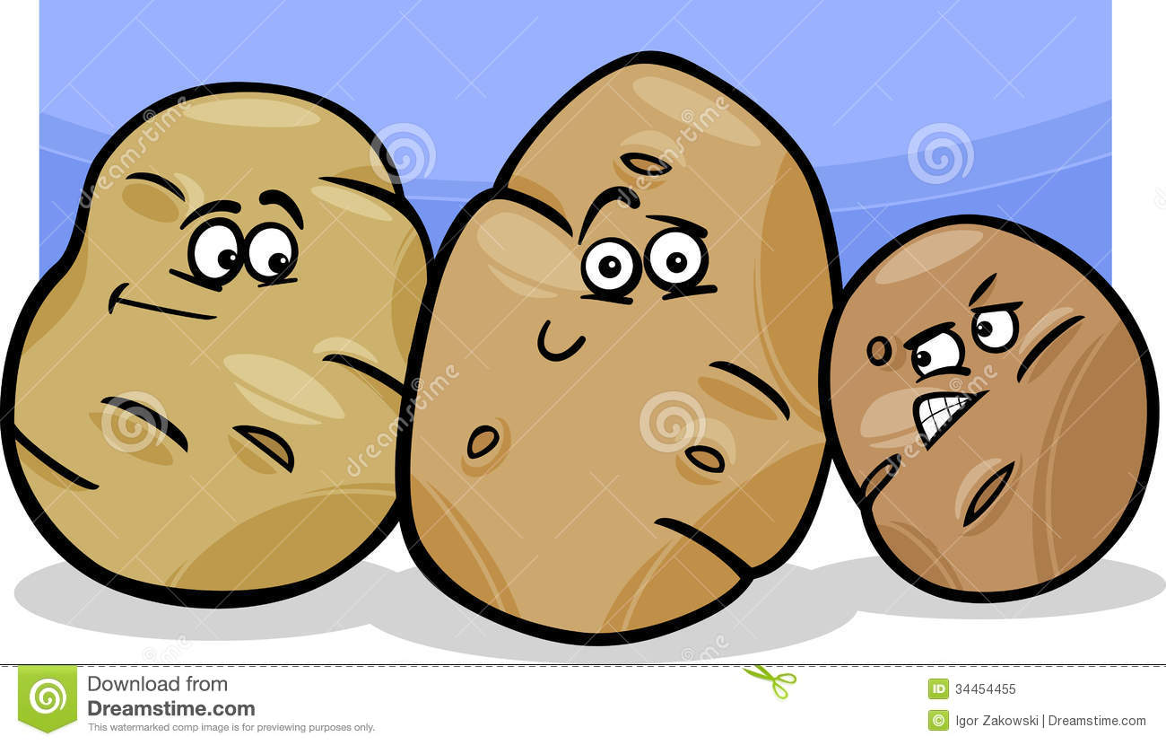 ... Illustration of Funny Comic Potatoes Vegetable Food Characters Group