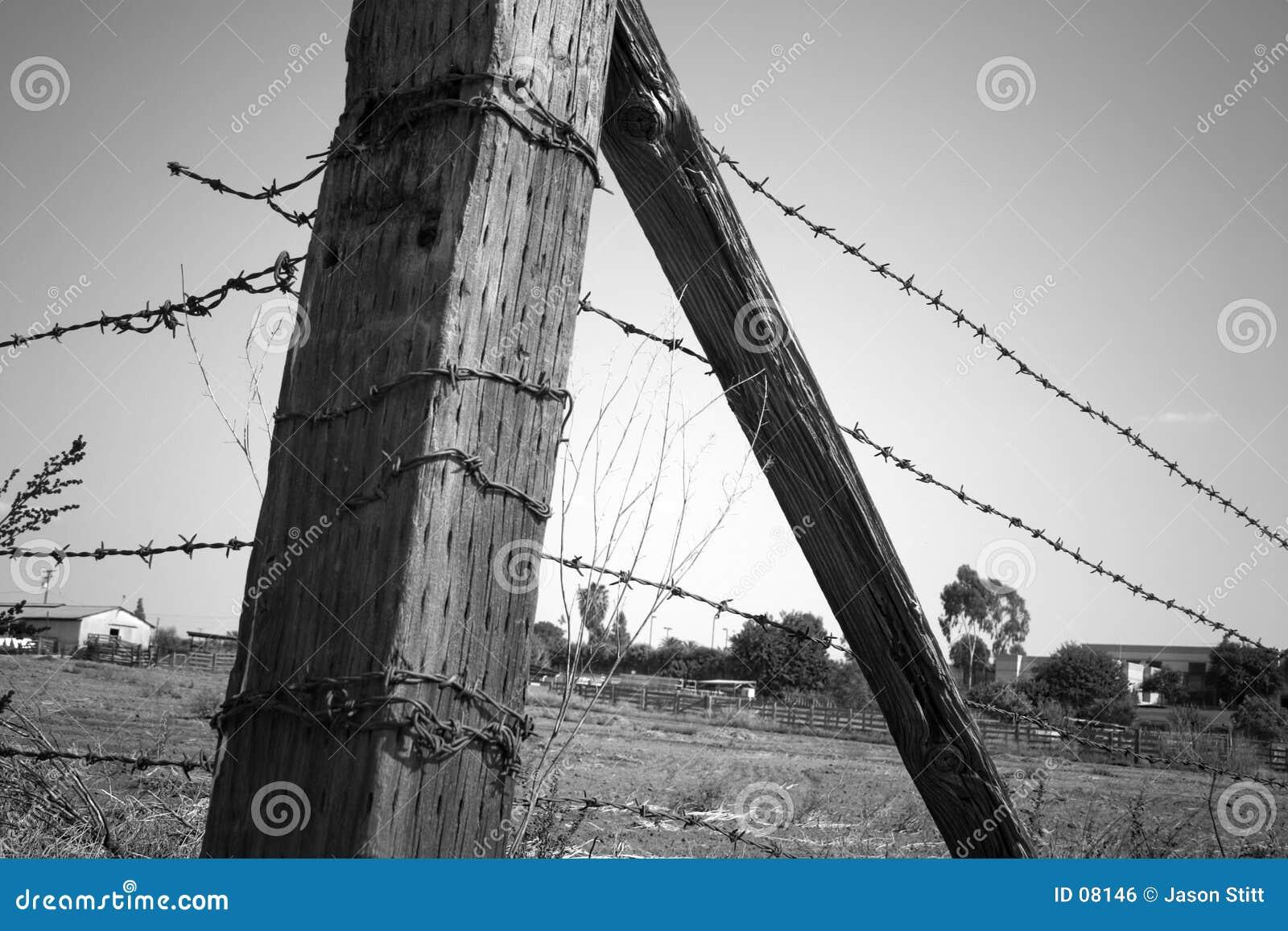 Poteau de frontière de sécurité