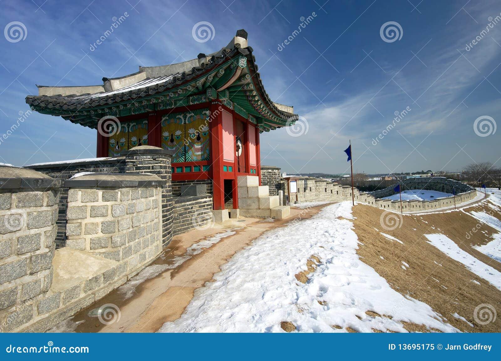 Poteau de sentinelle de forteresse de Hwaseong