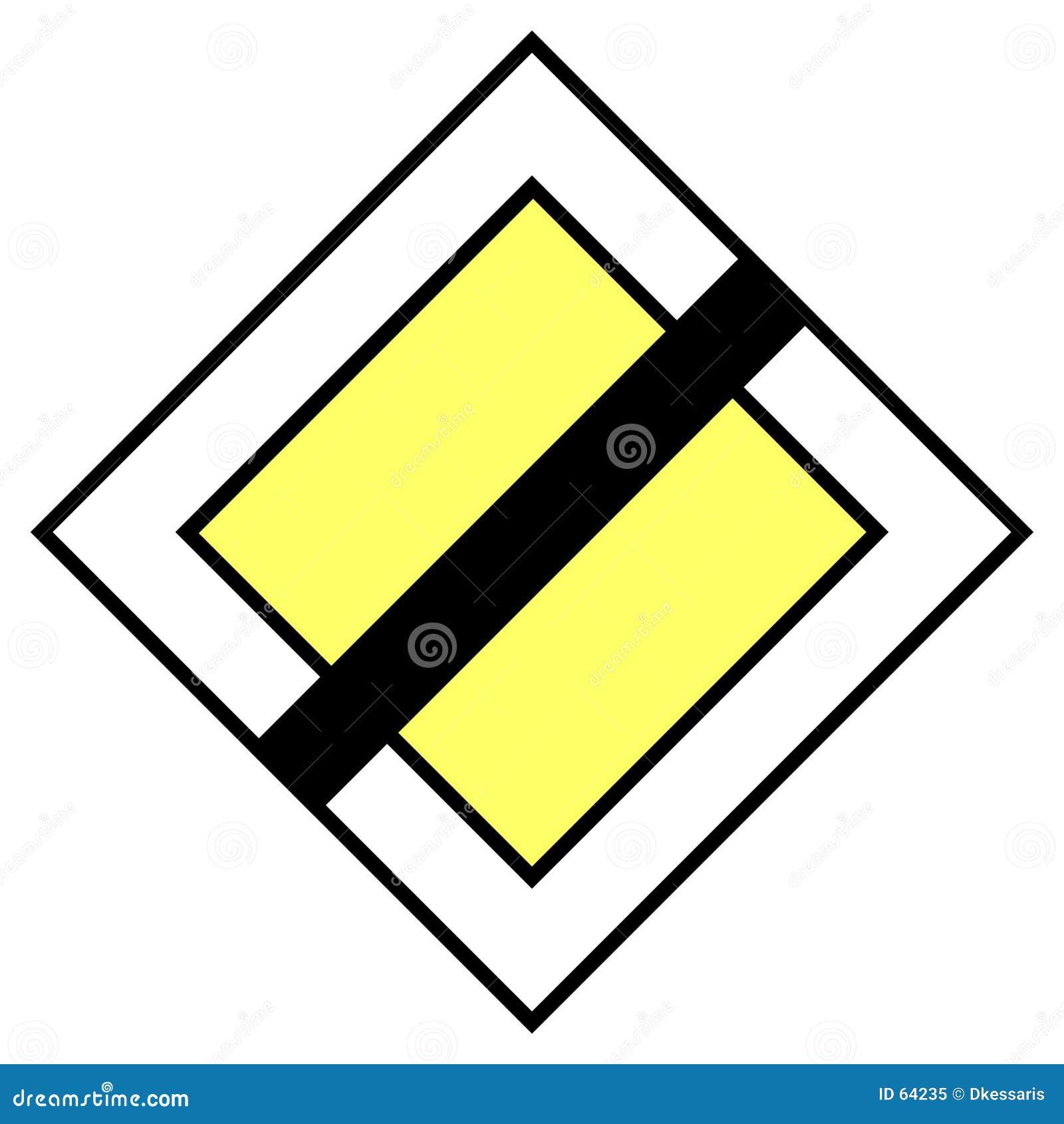 Download Poteau de signalisation illustration stock. Illustration du avertissement - 64235