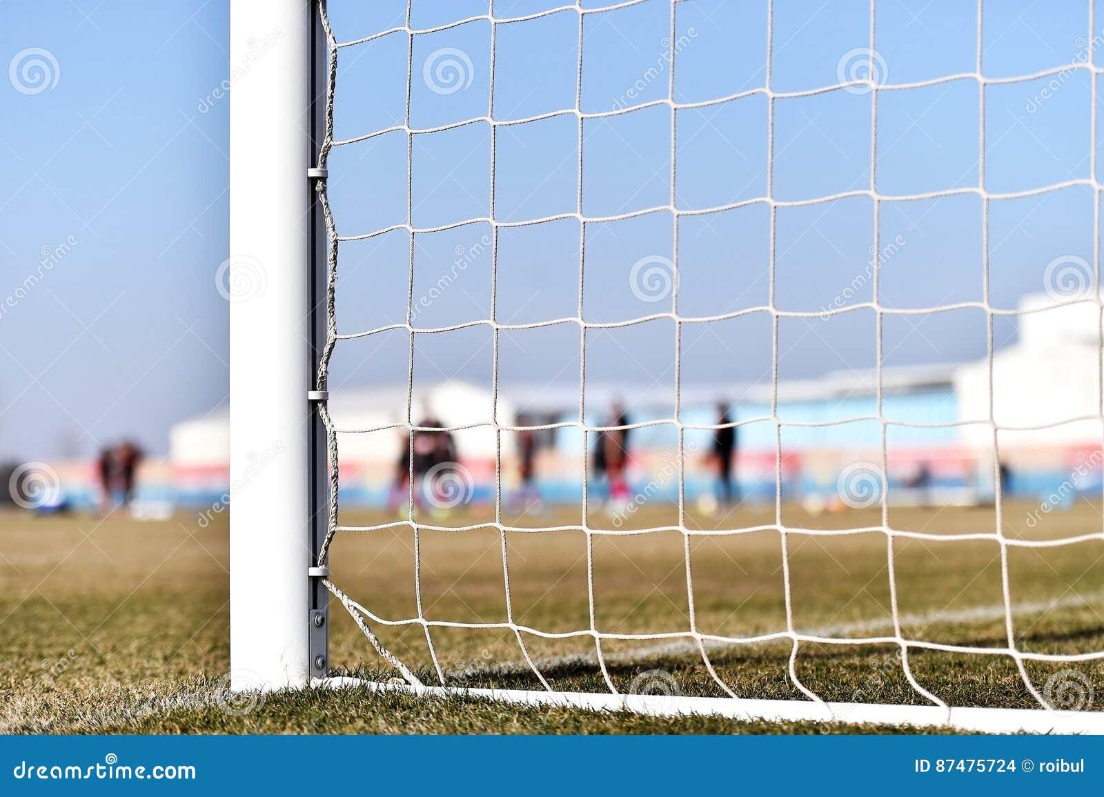 Poteau du football et formation de joueurs